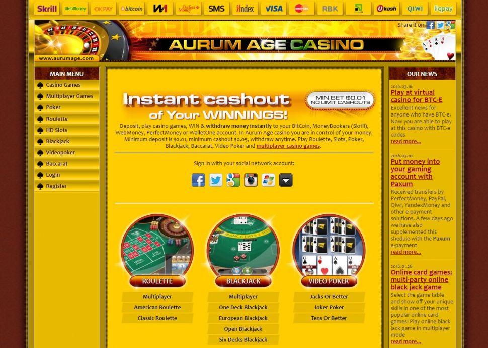 Aurum Age Casino